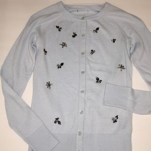 Cute Pale Blue Button front Cardigan. Embellished